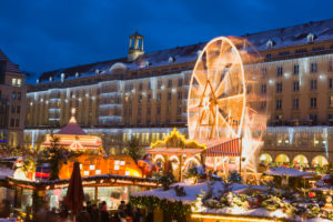 Germany, Saxony, Dresden, Striezel Christmas Market
