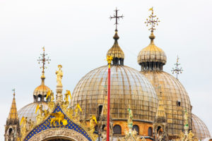 The Domes of Saint Mark's Basilica, Venice, Italy