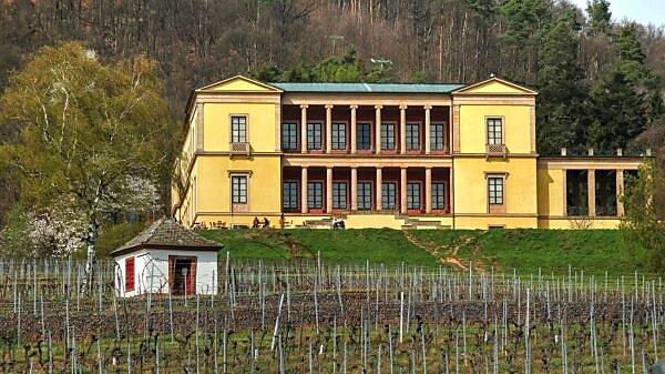 Villa Ludwigshöhe bei Edenkoben, Pfalz, Pfälzer Weinstraße, Rheinland-Pfalz, Deutschland