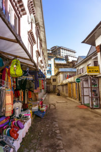 Street scene Namche Bazar, commercial street, market