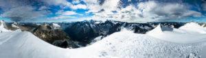 Panorama from Pigne d'Arolla, Valais, Switzerland,