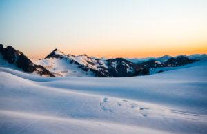 Blick von der Dahmannspitze, Sonnenuntergang, Gepatsch Ferner, Ötztal, Österreich