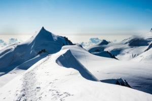 Alphubel Gletscher Route, Allalinhorn, Wallis, Schweiz