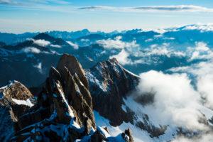 View from Oberaarhorn, Bernese Alps, Switzerland,