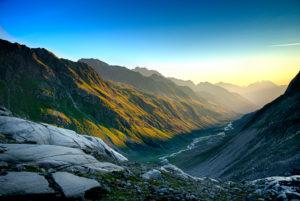Blick ins Stubaital Richtung Alpeiner Ferner, Sommer, Österreich