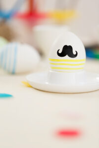 Easter egg with beard, colourful, eggcup