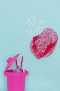 Krake, aufräumen, Plastikmüll