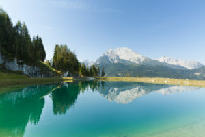 Berchtesgaden, Alps, mountain lake, reflection, Watzmann