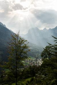 Berchtesgaden, Alps, Ramsau, clouds, sunrays, Ramsau Dolomites