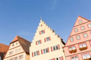 Rothenburg ob der Tauber, old town, gabled houses