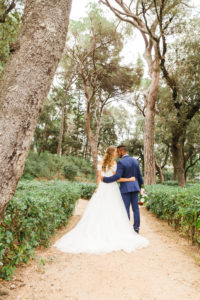 Wedding, newlyweds, hugging, diversity, love, garden, park