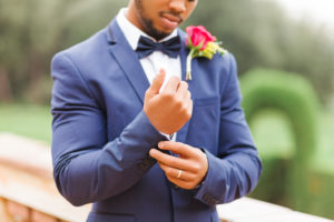 Wedding, groom, young man, diversity, garden, landscape, ring, cuff