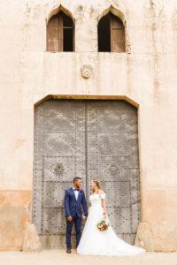 Hochzeit, Brautpaar, junge Erwachsene, Diversität, Liebe, Tor