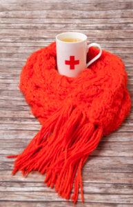 Defences, precaution, medicine, health, cup, scarf