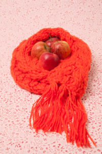 Defences, precaution, medicine, health, apples, scarf