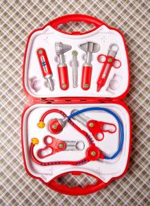 Doctor's case, toys, medicine, health