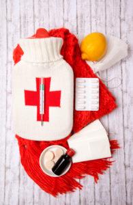 Grip, medicine, health, hot-water bottle