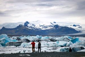 Jökulsárlón, Landschaft, Touristen, Eis, See, Island,