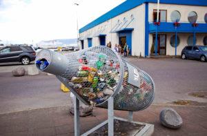 Trashcan; Port; City; Iceland; Reykjavik