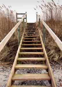 Stairway, When, Alsen, Island, Landscape, Denmark