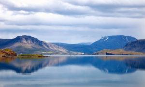 Hvalfjordur, Walfjord, Berge, Gewässer, Island, Europa