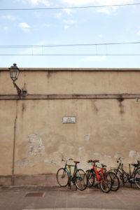 Mauer, Prato, Toskana, Italien, Stadt