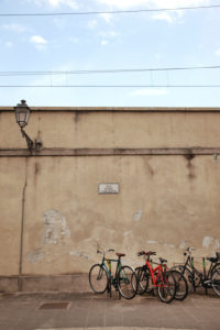 Wall, Prato, Tuscany, Italy, city