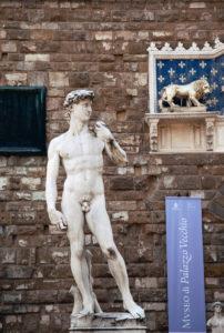 Skulptur, David, Kunstwerk, Florenz, Toskana, Italien, Stadt