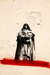 Mauer, Graffiti, Gemälde, Florenz, Toskana, Italien, Stadt