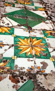 Giardino Bardini, detail, tiles, architecture, Florence, Tuscany, Italy