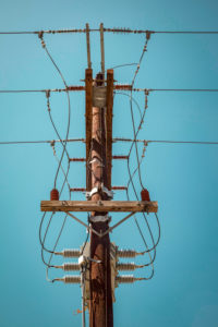 Old-fashioned, electricity, electricity pylon, energy transition, sustainability