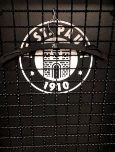 Soccer, team area, detail, Hamburg, St. Pauli