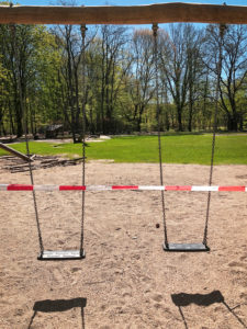 Playground, empty, closed, corona pandemic, Hamburg, Germany