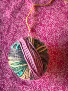 Wool, ball of yarn, close-up, needlework, knitting