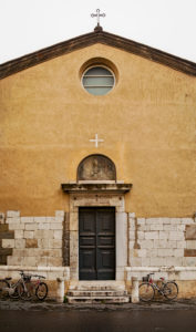 Church, chapel, cross, Lucca, Tuscany, Italy