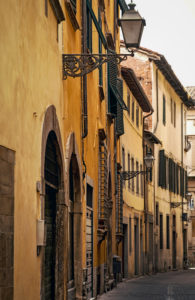 Haus, Gasse, Lucca, Toskana, Italien