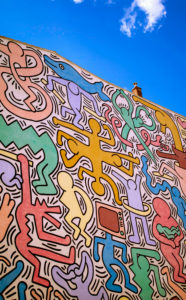 Keith Haring, Wall, Graffiti, Paintings, Pisa, Tuscany, Italy