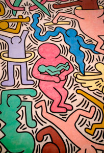 Keith Haring, Mauer, Graffiti, Gemälde, Pisa, Toskana, Italien