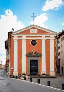 Santa Cristina, church, alley, Pisa, Tuscany, Italy