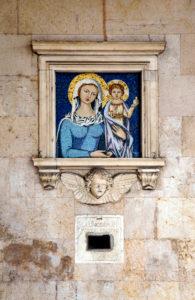 House, mosaic, Pisa, Tuscany, Italy