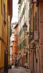 Haus, Gasse, Pisa, Toskana, Italien