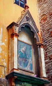 House wall, altar, Pisa, Tuscany, Italy