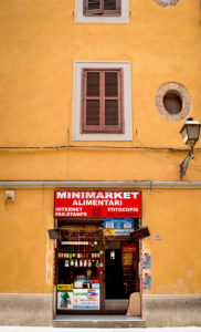 House, shop, Alimentari, Pisa, Tuscany, Italy