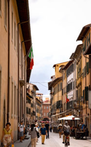Street, people, old town, Pisa, Tuscany, Italy