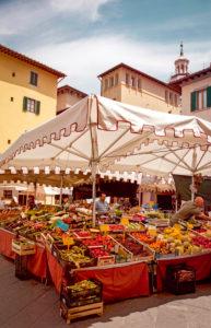 Markt, Marktstand, Pistoia, Toskana, Italien