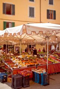 Market, market stall, Pistoia, Tuscany, Italy