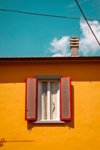 House, window, Pistoia, Tuscany, Italy