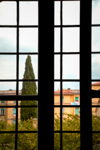 House, tree, view, Tuscany, Italy, Pistoia