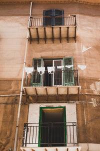 Haus, Wäsche, Palermo, Sizilien, Hauptstadt, Großstadt, Italien