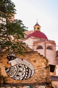 Graffiti, Chiesa della Martorana, church, street art, Palermo, Sicily, Italy